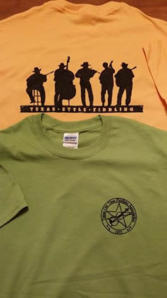 Texas Oldtime Fiddlers Association t-shirts